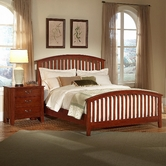 Vaughan Bassett 300-155-551-922 Appalachian dark Cherry Queen Rake Sleigh Bed