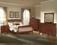 Vaughan Bassett 300-166-661-922-ms1 Appalachian Dark Cherry Eastern King Rake Sleigh Bed