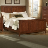 Vaughan Bassett 300-558-855-922 Appalachian Dark Cherry Queen Mansion Panel Bed