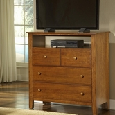 Vaughan Bassett 302-113 Simply Cherry Light Solid Cherry Entertainment Center - 4 drawers