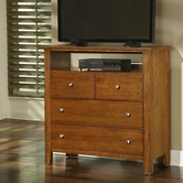 Vaughan Bassett 302-114 Simply Cherry Light Cherry Entertainment Center - 4 drawers
