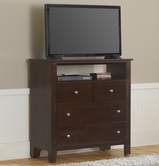 Vaughan Bassett 304-114 Simply Cherry Merlot Finish Entertainment Center - 4 drawers