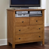 Vaughan Bassett 312-113 Simply Oak Light Solid Oak Entertainment Center - 4 drawers