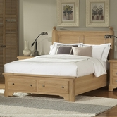 Vaughan Bassett 344-050B-502-555T-558 American Journey Queen Poster Bed with Storage