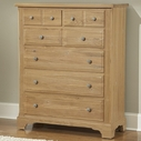 Vaughan Bassett 344-116 AMERICAN JOURNEY 6-Drawer Chest (cedar lined bottom drawers)