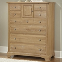 Vaughan Bassett 344-117 AMERICAN JOURNEY Door Chest - 8 drawers, 1 door (cedar lined bottom drawers)