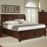 Vaughan Bassett 530-050B-502-553-555T Reflections Queen Storage Bed with Sleigh Headboard