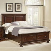 Vaughan Bassett 530-050B-502-558-555T Reflections Queen Storage Bed With Mansion Headboard