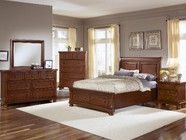 Vaughan Bassett 532-050B-502-553-555T-002-446 Reflections-Medium Cherry Bedroom Set