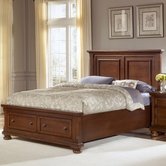 Vaughan Bassett 532-050B-502-558-555T Reflections Queen Storage Bed With Mansion Headboard