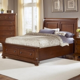 Vaughan Bassett 532-066B-502-663-666T Reflections King Storage Bed With Sleigh Headboard