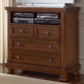 Vaughan Bassett 532-114 REFLECTIONS Ent. Center - 2 Drawers, Component Shelf