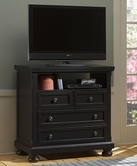 Vaughan Bassett 534-114 REFLECTIONS Ent. Center - 2 Drawers, Component Shelf