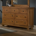 Vaughan Bassett 540-002 Reflections Triple Dresser-7 Drawers (Cedar Lined Bottom Drwrs.)