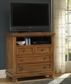 Vaughan Bassett 540-114 REFLECTIONS Ent. Center - 2 Drawers, Component Shelf