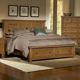 Vaughan Bassett 550-050B-502-558-555T Reflections Queen Storage Bed With Mansion Headboard