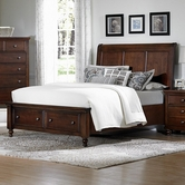 Vaughan Bassett 622-050B-502-553-555T Ellington Queen Sleigh Storage Bed