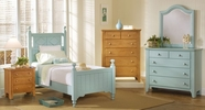 Vaughan Bassett 805-557-755-922-555T-001-447 Alexander Julian Robbin's Egg Blue Bedroom Collection