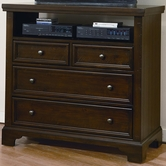 Vaughan Bassett 810-114 Hanover Dark Cherry Media Chest - 4 Drawers