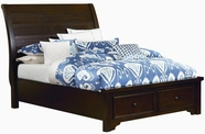 Vaughan Bassett 810-552-046B-302-444T Hanover Dark Cherry Full Sleigh Storage Bed with Low Profile Foorboard