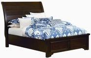 Vaughan Bassett 810-552-144-711 Hanover Dark Cherry Full Sleigh Low Profile Bed with Plank Style Headboard