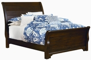 Vaughan Bassett 810-552-255-711 Hanover Dark Cherry Full Sleigh Bed with Footboard