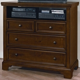 Vaughan Bassett 812-114 Hanover Cherry Media Chest - 4 Drawers