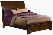 Vaughan Bassett 812-552-144-711 Hanover Cherry Full Sleigh Low Profile Bed with Plank Style Headboard