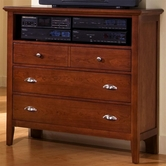 Vaughan Bassett BB10-114 TWILIGHT Media Cabinet -3 drawers, component shelf
