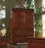 Vaughan Bassett BB13-117 Louis Collection Armoire/Ent. Center - 2 doors, 2 drawers,