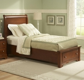 Vaughan Bassett BB19-033B-302-331-333T Cottage Twin Sleigh Storage Bed with 1 Drawer