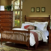 Vaughan Bassett BB19-557-755-922 Cottage Queen Slat Poster Bed