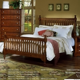 Vaughan Bassett BB19-667-766-933 Cottage King Slat Poster Bed