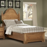 Vaughan Bassett BB20-046B-302-552-444T Cottage Full Panel Storage Bed
