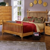 Vaughan Bassett BB20-667-766-933 Cottage King Slat Poster Bed