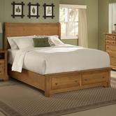 Vaughan Bassett BB21-033B-302-331-333T Cottage Twin Sleigh Storage Bed with 1 Drawer
