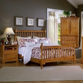 Vaughan Bassett BB21-557-755-922 Cottage Queen Slat Poster Bed