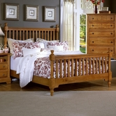 Vaughan Bassett BB21-667-766-933 Cottage King Slat Poster Bed