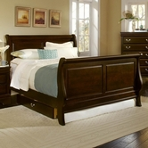 Vaughan Bassett BB23-355A-553A-722 Louis Queen Sleigh Bed
