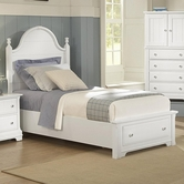Vaughan Bassett BB24-050B-502-558-555T Cottage Queen Panel Storage Bed
