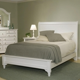Vaughan Bassett BB24-663-933-966 Cottage King Sleigh Bed with Low Footboard