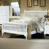 Vaughan Bassett BB24-667-766-933 Cottage King Slat Poster Bed