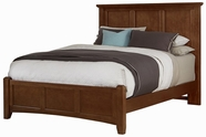 Vaughan Bassett BB28-558-855-911 Bonanza Cherry Finish Full Mansion Bed with Low Profile Footboard