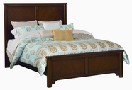 Vaughan Bassett BB31-552-255-911 Taylors Loft Cherry Finish Full Chevron Bed with Bookmatched V-Pattern Wood Veneers