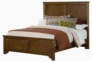 Vaughan Bassett BB34-552-255-911 Taylors Loft Oak Finish Full Chevron Bed with Bookmatched V-Pattern Wood Veneers