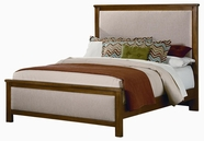 Vaughan Bassett BB34-556A-655A-911 Taylors Loft Oak Finish Full Upholstered Bed with Customizable Fabric Option
