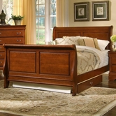 Vaughan Bassett BB43-355A-553A-722 Louis Queen Sleigh Bed