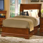 Vaughan Bassett BB43-553A-922-955 Louis Queen Sleigh Bed with Platform Footboard
