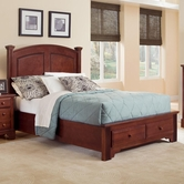 Vaughan Bassett BB5-050B-502-558-555T Hamilton/Franklin Queen Panel Storage Bed