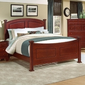 Vaughan Bassett BB5-558-855-922  Hamilton/Franklin Queen Panel Bed
